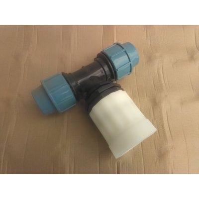 IBC redukce DN 50 hrubý zavit  ( S60/6 ) na PPS Trubku - T kus