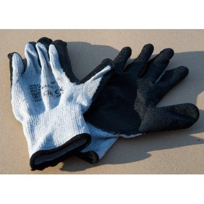 Pracovní bavlněné protiskluzové rukavice DICK BASIC, vel. 10, 120ks