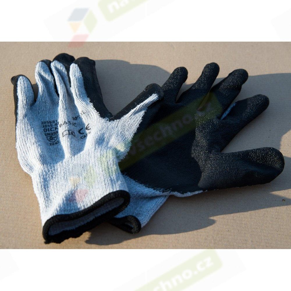 Pracovní bavlněné protiskluzové rukavice DICK BASIC, vel. 10