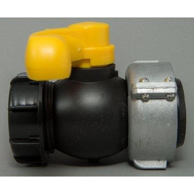IBC kohout šroubovací 75mm / DN 50 hrubý zavit S60x6