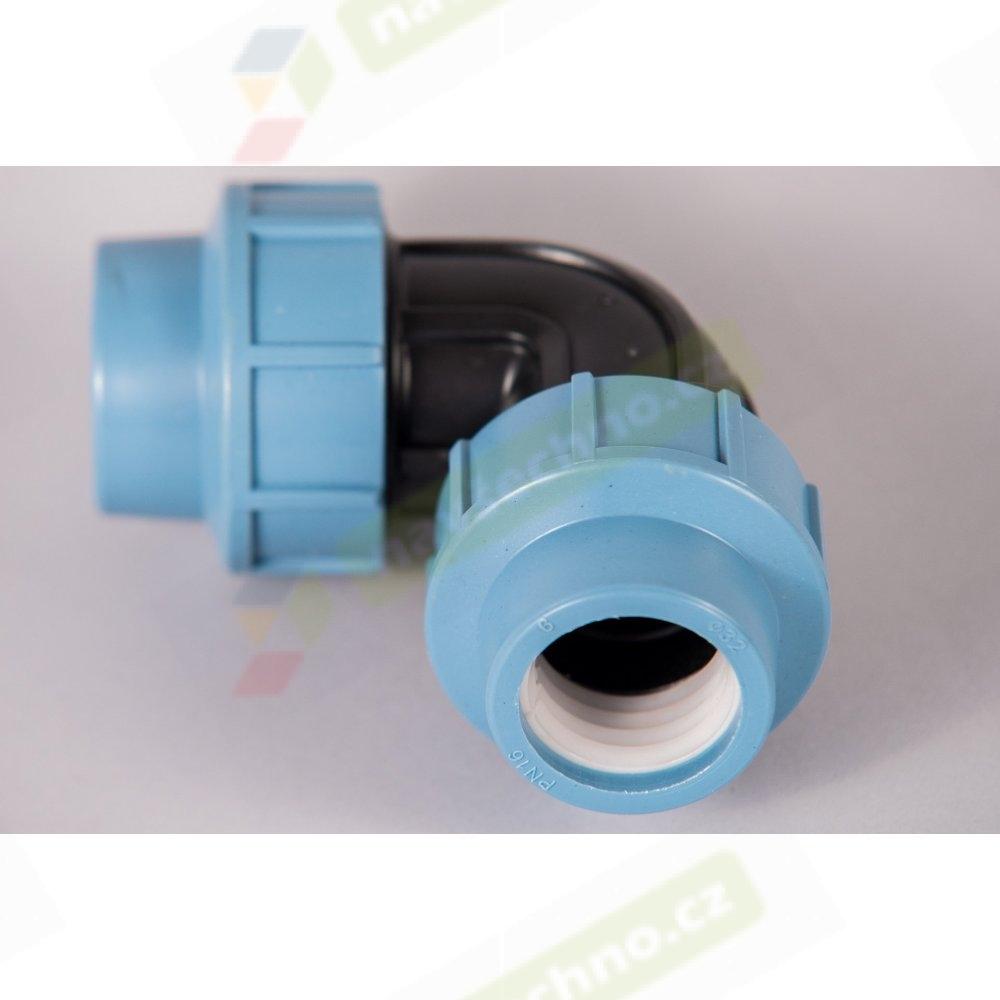 Plastová svěrná spojka - tvarovka 32x32mm koleno