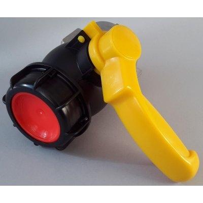 IBC kohout šroubovací 62mm / DN 50 hrubý zavit S60x6