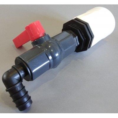 """IBC redukce z DN50 ( S60x6 - 2"""" ) na plastový kohout 1 """""""