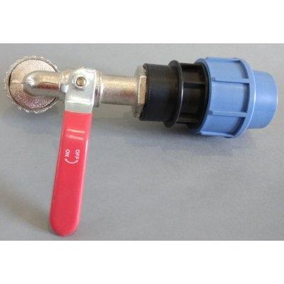 PPS redukce z 32mm na mosazný kohout