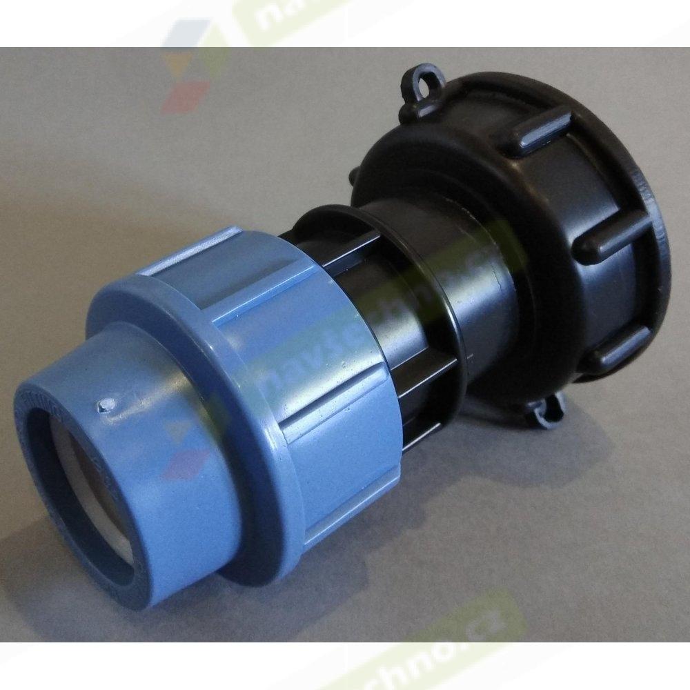 IBC redukce DN50 jemný závit na PPS trubku 32mm