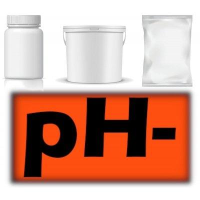 pH mínus sypký