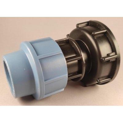 IBC redukce S60x6 na kompresní spojku 32mm