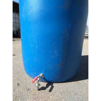 220L sud, odříznutý, modrý s kohoutem