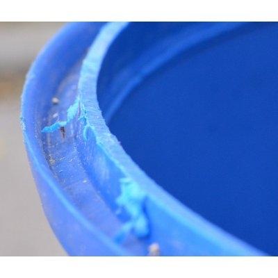 sud plastový 220L modrý odříznutý | www.nadrze.navsechno.cz